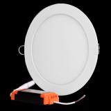 Plafon LED okrągły podtynkowy aluminiowa obudowa 18W 3000K ciepły biały