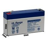 "Akumulator AGM ULTRACELL UL 6V 1.3AH ""żelowy"""