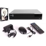ZESTAW REJESTRATOR EASYCAM AHD CVI TVI ANALOG IP 4CH + DYSK HDD 500GB