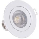 Oprawa LED OKRĄGŁA 5W 450 lm 4000K neutralne światło oczko regulowane