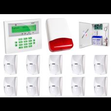 Zestaw alarmowy SATEL Integra 64, Klawiatura LCD, 10 czujek ruchu PET, sygnalizator zewnętrzny