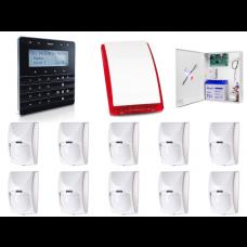 Zestaw alarmowy SATEL Integra 64, Klawiatura sensoryczna, 10 czujek ruchu PET, sygnalizator zewnętrzny SP-4001